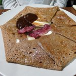 Duck liver crepe
