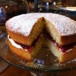 Homemade Victoria sandwich cake