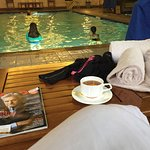 Tea by the pool - relaxing
