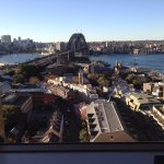 This was the view from our apartment of the harbour Bridge and The Rocks