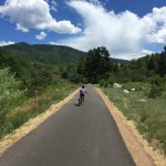 View biking the trails from Aspen Meadows in to Aspen
