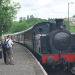 Arriving at Matlock Station