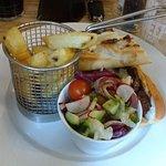 Steak Baguette, Chips and Salad