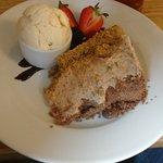 Galaxy & Flake Cheesecake with Vanilla Ice Cream