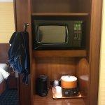 Dry Bar Area with Microwave, Mini fridge