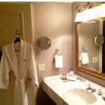 beautiful bathroom with robe