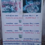 Prices for a bucket of rice for alms offering