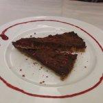 láminas de chocolate con frambuesa