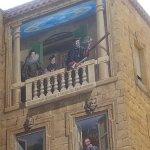Nostradamus on the fresco