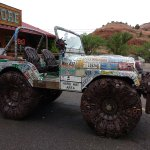 "A ""Jeep"", built entirely of pieces of scrap metal, even the seats."