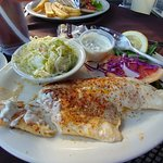 Jines Restaurant Broiled Haddock and Cole Slaw
