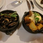 mushrooms and potatos as side dishes