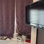 Window ledge for storage & tiny TV