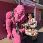 Pink Gorilla in Livingston IL at The Pink Elephant Antiques Route 66