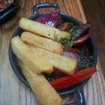 beef pepper and chips