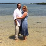 Paul and I were chartered out to White Horse Key Island in the 10,000 Islands for our wedding.