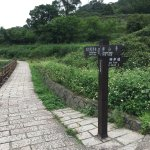 遊歩道途中に池や花畑がありとてもきれいでした(寺に近くなると落とし物が増えていきます)