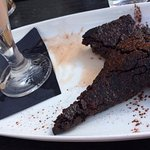 Chocolate Mocha Squares served with Chocolate Milkshake