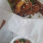 Crispy Parmesan eggplant sticks - Cafe B's