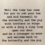 Photo of The Butterfly And The Pig