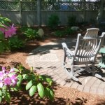 Patio seating at Bluefish Bed  Breakfast
