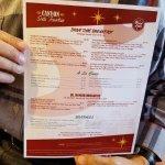 back of menu with details