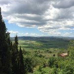 Tuscany countryside from Villa Poggiano