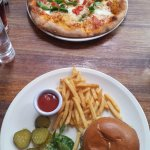CLASSIC MARGHERITA PIZZA and CHEESE BURGER 8OZ CHUCK STEAK