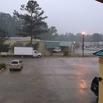 Free parking and heavy rain!!