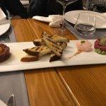 Tuna tartar, biftek tartar, tomato sorbet