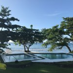 View of the pool and ocean from our apartment (Guava)
