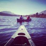 Canoing on Loch Beinn a' Mheadhoin, Scotland