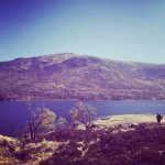Wild camping and canoing on Loch Affric, Scotland