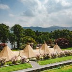 View from the Lake View 'honeymoon' suite to our tipi wedding
