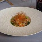 Langoustine et foi gras poilé