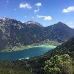 Blick vom Berg auf den Achensee