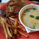 Soup and reuben