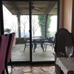 Dining room and outdoor seating for warmer months.