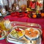 Part of the breakfast spread