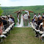 Our wedding ceremony on the Lark at Treetops Resort