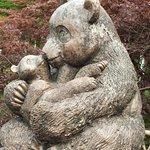 Panda and Cub sculpture