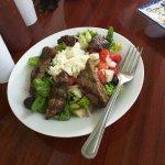 Greek salad with Kofte