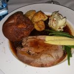 Delicious roast beef lunch.