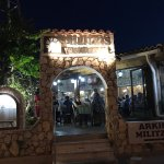 Milizis entrance at night