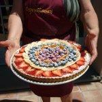 Manuela's custard tart was to die for