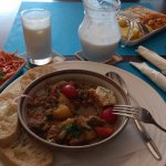 Hot Pot with lamb meat served with Ayran