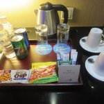 Complimentary drinks and snacks...