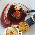 pavé de bœuf foie gras et son accompagnement