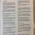 Frog bar menu June 2017