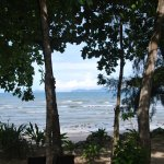View from the bedroom in the morning looking out to Phi Phi.